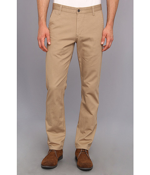 Dockers Men's - Game Day Alpha Khaki Slim Tape Red Flat Front Pant (Syracuse University New British Khaki) Men's Casual Pants