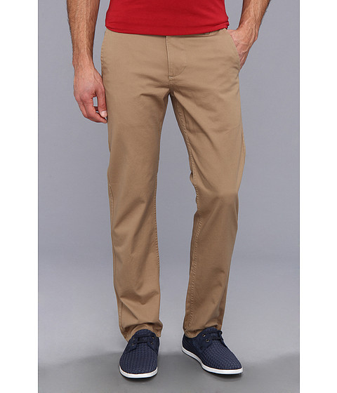 Dockers Men's - Game Day Alpha Khaki Slim Tape Red Flat Front Pant (University of Kansas - New British Khaki) Men's Casual Pants