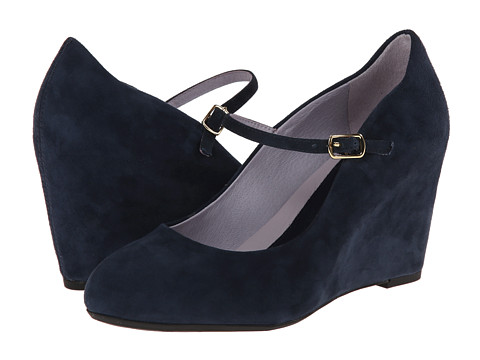 Johnston & Murphy - Tracey Mary Jane (Navy Suede) Women's Maryjane Shoes