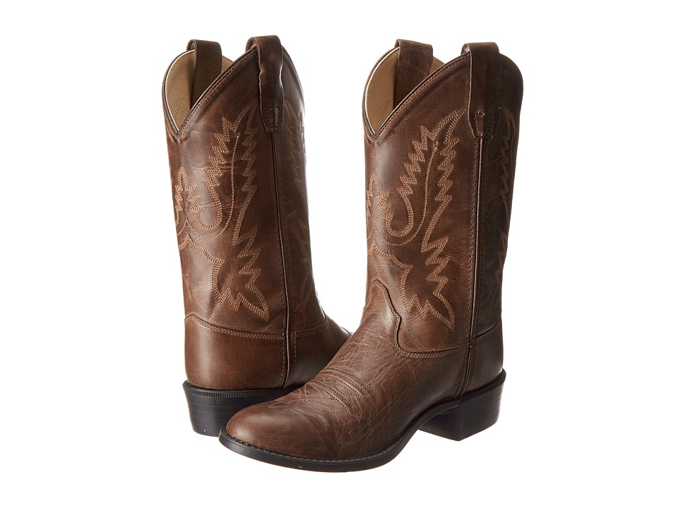 Old West Kids Boots - Western Boots (Big Kid) (Brown Canyon) Cowboy Boots