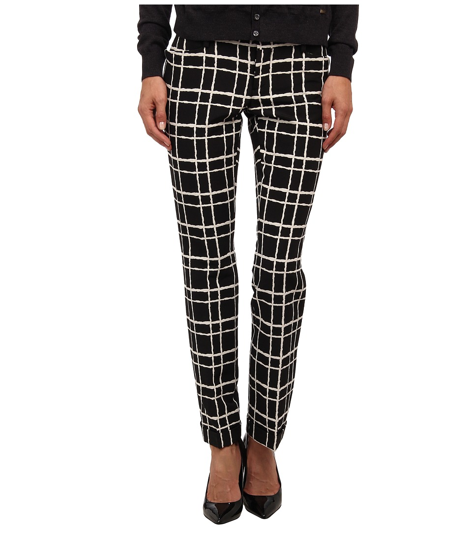DSQUARED2 - Gingham Print Pants (Black/Off White) Women's Casual Pants