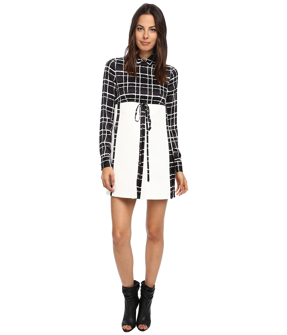 DSQUARED2 - Gingham Pattern Shirt Dress (Black/Off White) Women's Dress