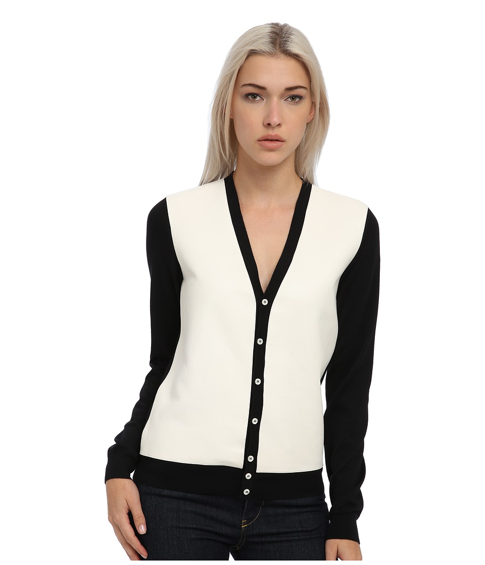 DSQUARED2 - Two-Tone Cardigan (Black/Off White) Women's Clothing
