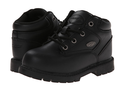 Lugz - Sector SR (Little Kid) (Black) Men's Lace up casual Shoes