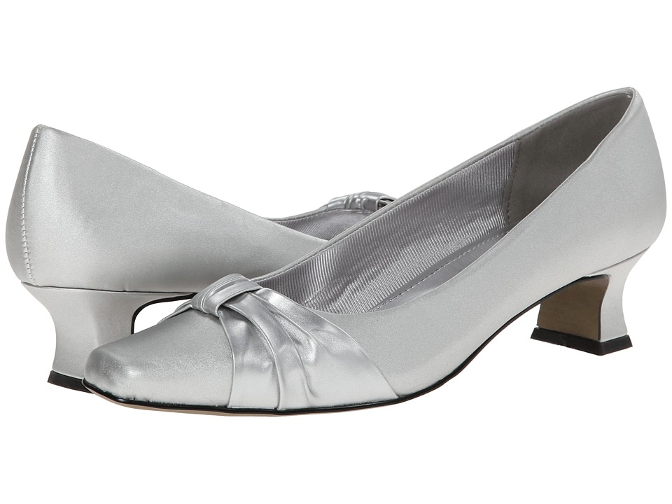 Easy Street - Waive (Silver Satin) Women's Slip on Shoes