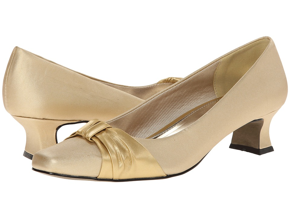 Easy Street - Waive (Gold Satin) Women's Slip on Shoes