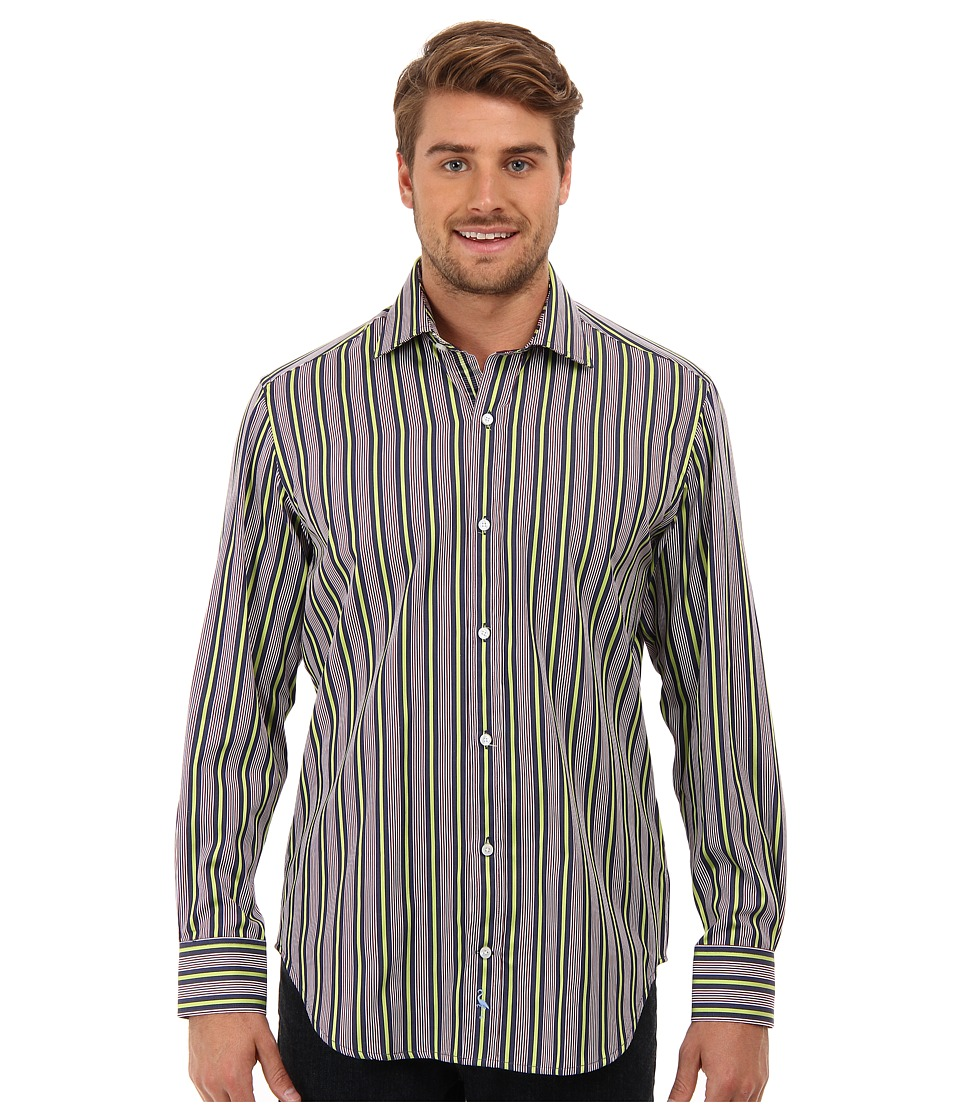 TailorByrd - Martini L/S Shirt (Lime) Men's Long Sleeve Button Up