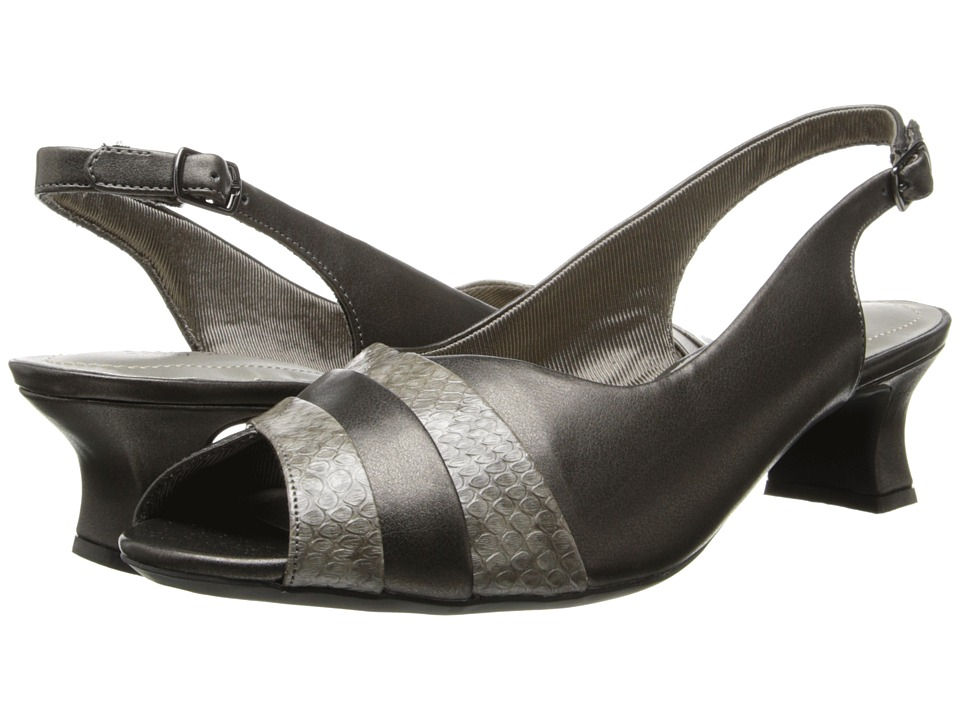 Easy Street - Gwen (Pewter/Snake) Women's Sling Back Shoes