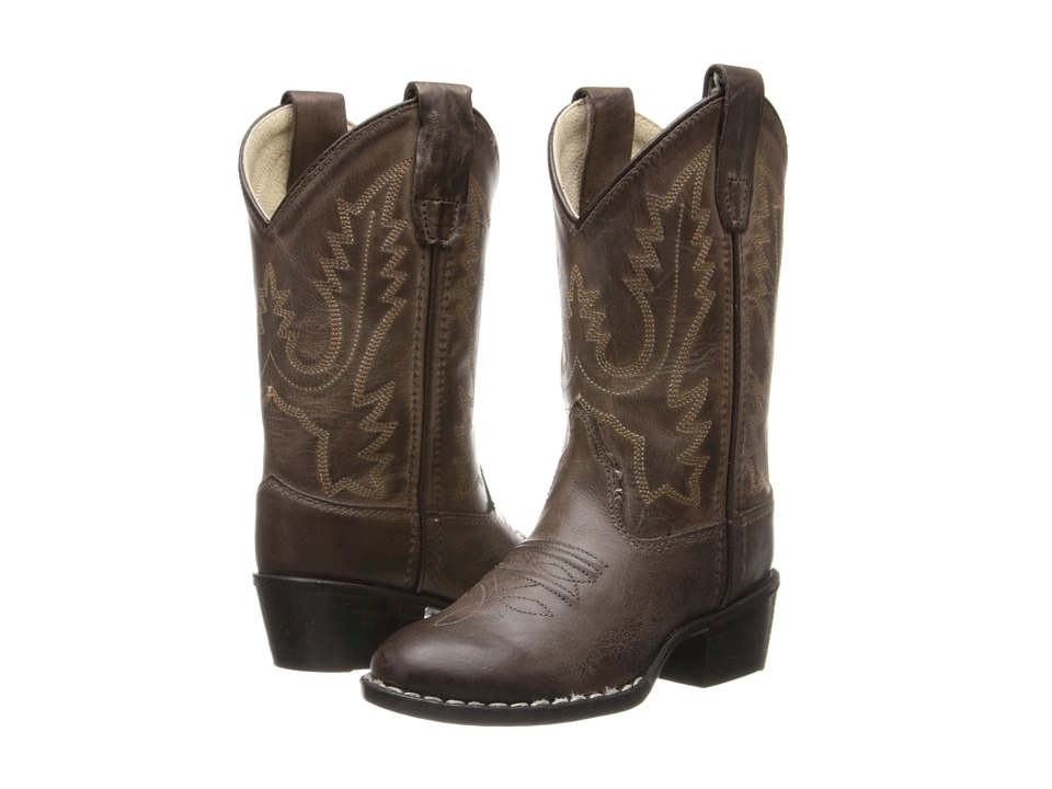Old West Kids Boots - Western Boots (Toddler/Little Kid) (Brown Canyon) Cowboy Boots