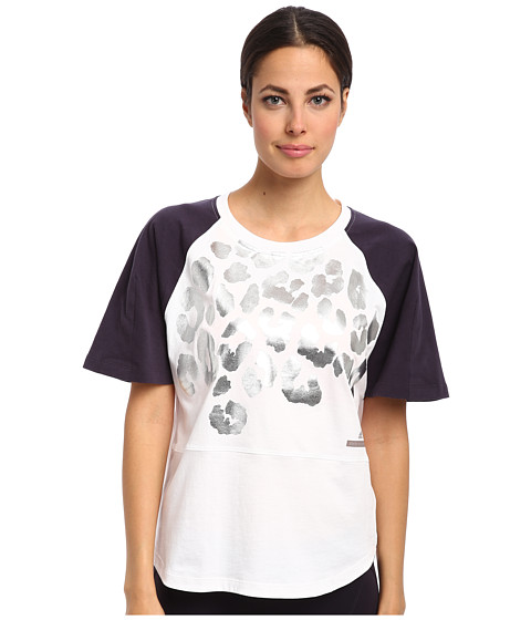 adidas by Stella McCartney - Yoga Graphic Tee M60430 (White/Dark Space) Women