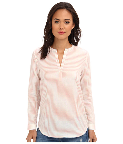 BB Dakota - Avery Long Sleeve Tunic (Coral Stripe) Women's T Shirt