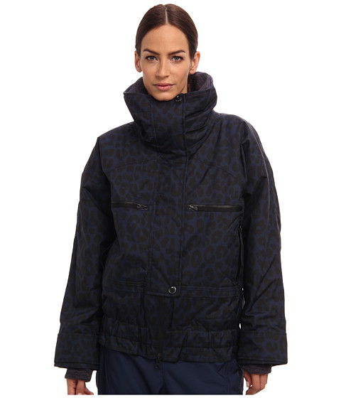 adidas by Stella McCartney - Wintersport Performance Printed Jacket M61641 (Indigo/Black) Women