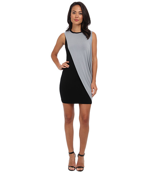 Bailey 44 - Action Painting Dress (Black/Grey) Women