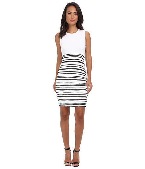 Bailey 44 - Line Drawing Dress (White) Women's Dress