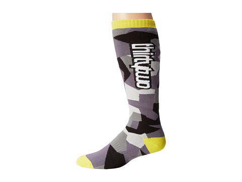 thirtytwo - Fragment Sock (Black Yellow) Men's Crew Cut Socks Shoes