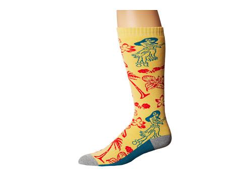 thirtytwo - Needles Sock (Yellow) Men's Crew Cut Socks Shoes