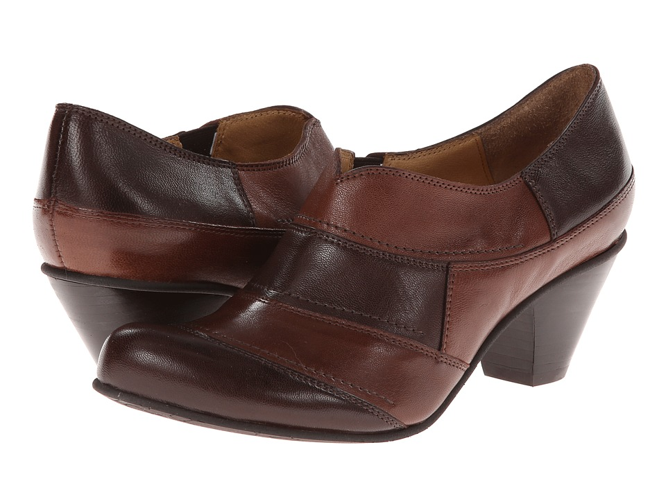 Fidji - E356 (Chocolate/Latte) Women's 1-2 inch heel Shoes