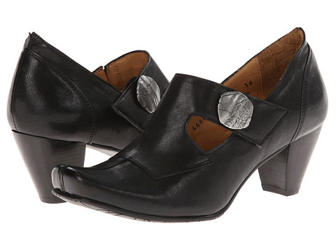 Fidji - Abby E976 (Black) Women's Hook and Loop Shoes