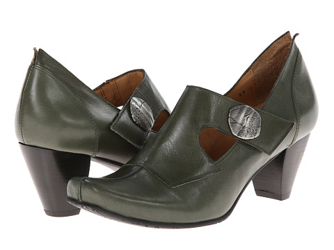 Fidji - Abby E976 (Olive) Women's Hook and Loop Shoes