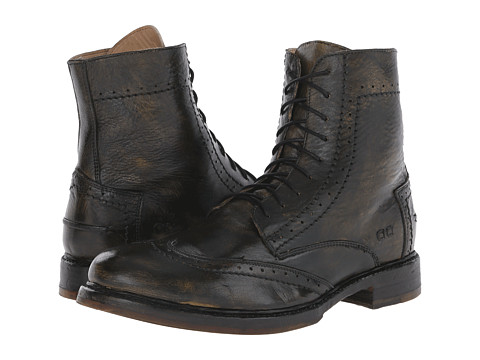 Bed Stu - Hugh (Black/Yellow) Men's Lace-up Boots