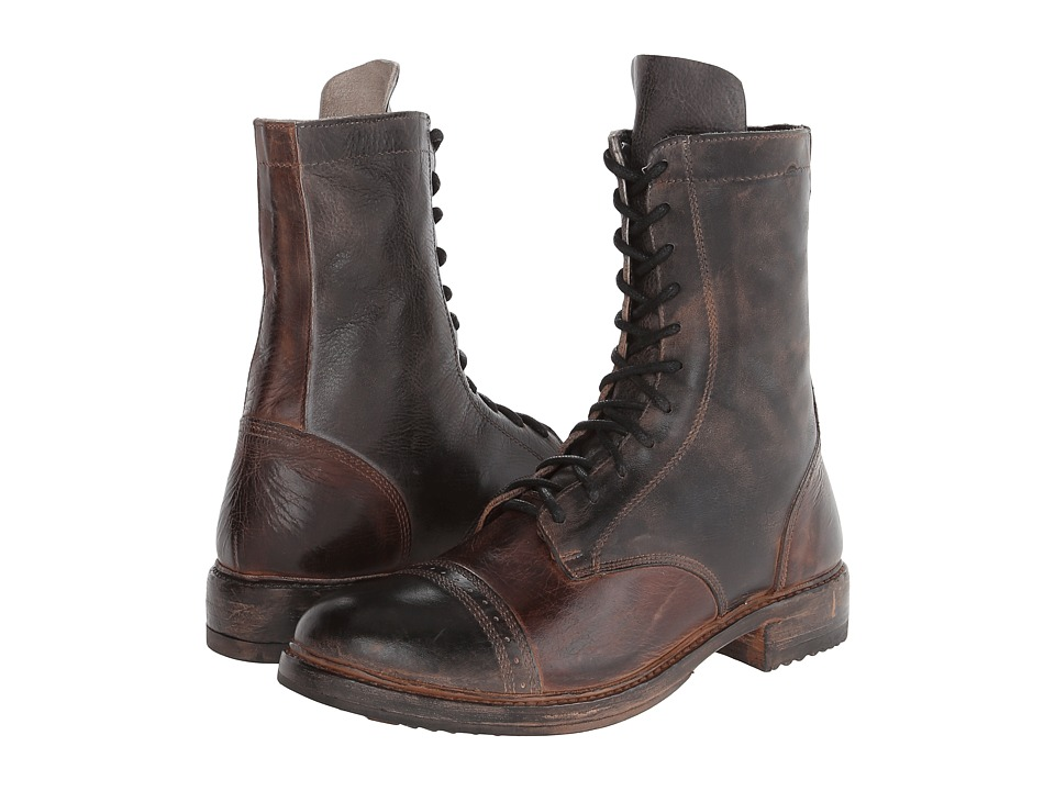 Bed Stu - Declaration (Black/Teak) Men's Lace-up Boots