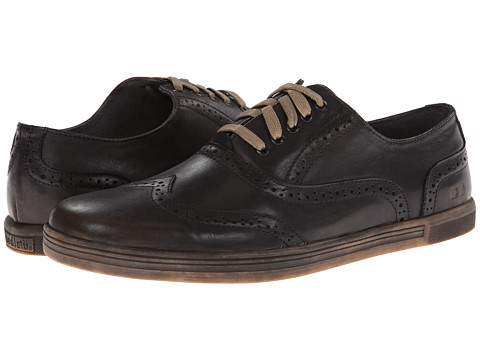 Bed Stu - Quinn (Black) Men's Lace Up Wing Tip Shoes