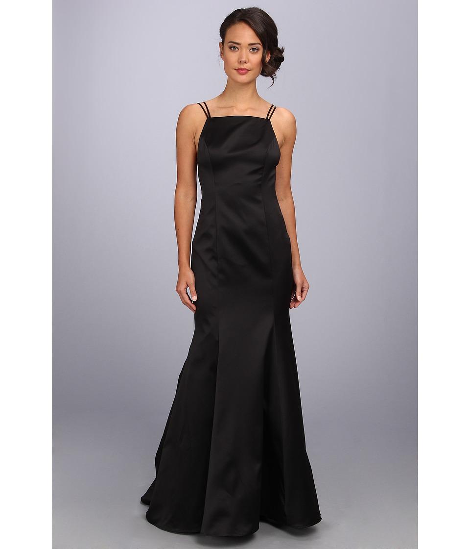 ABS Allen Schwartz - Double Strap Open Back Mermaid Dress (Black) Women's Dress