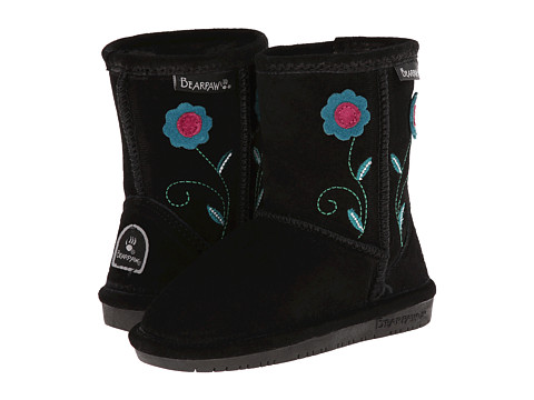 Bearpaw Kids - Buttercup (Toddler/Little Kid) (Black) Girls Shoes