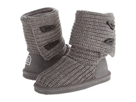 Bearpaw Kids - Knit Tall (Little Kid/Big Kid) (Grey) Girls Shoes