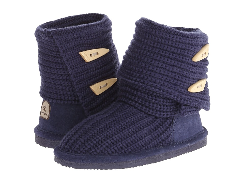 Bearpaw Kids - Knit Tall (Little Kid/Big Kid) (Indigo) Girls Shoes