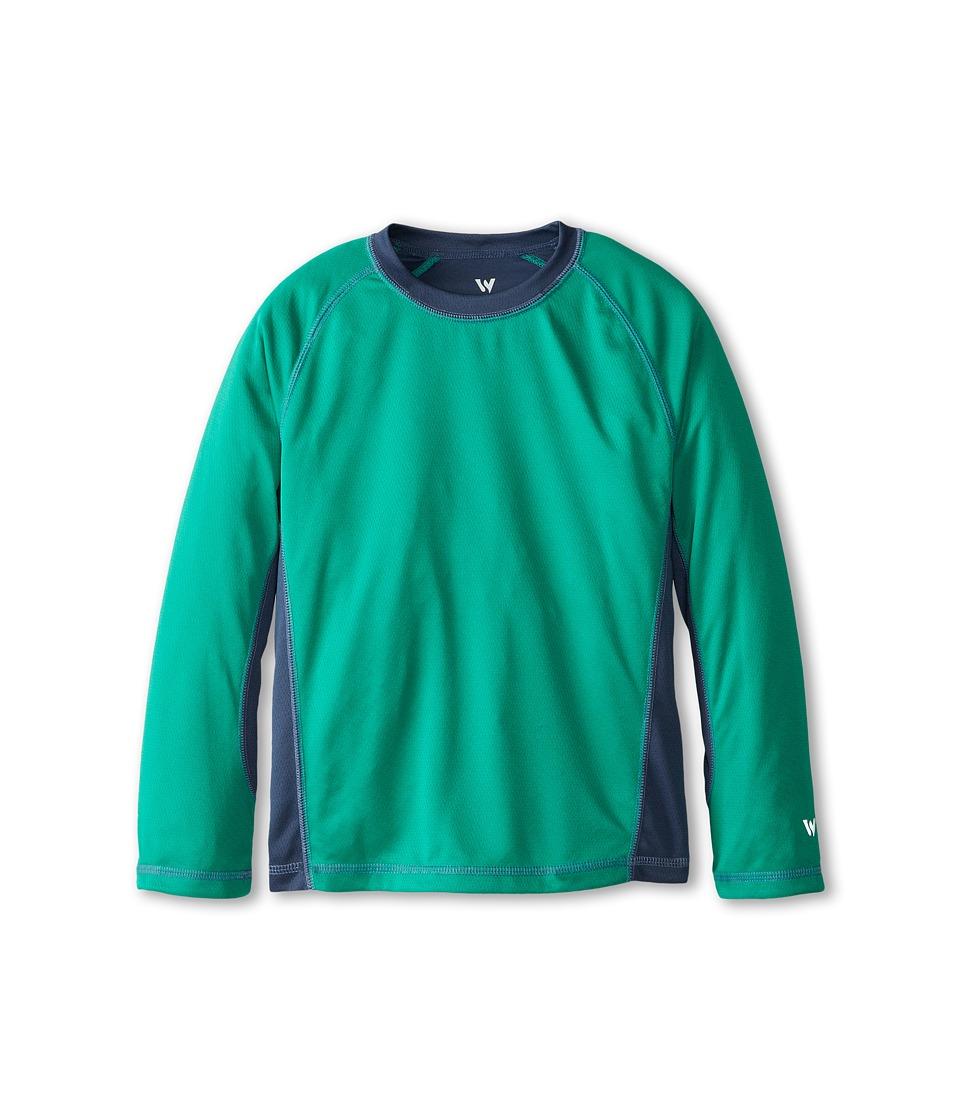 White Sierra - Sun Buster Tee (Little Kids/Big Kids) (Summer Green) Men's T Shirt