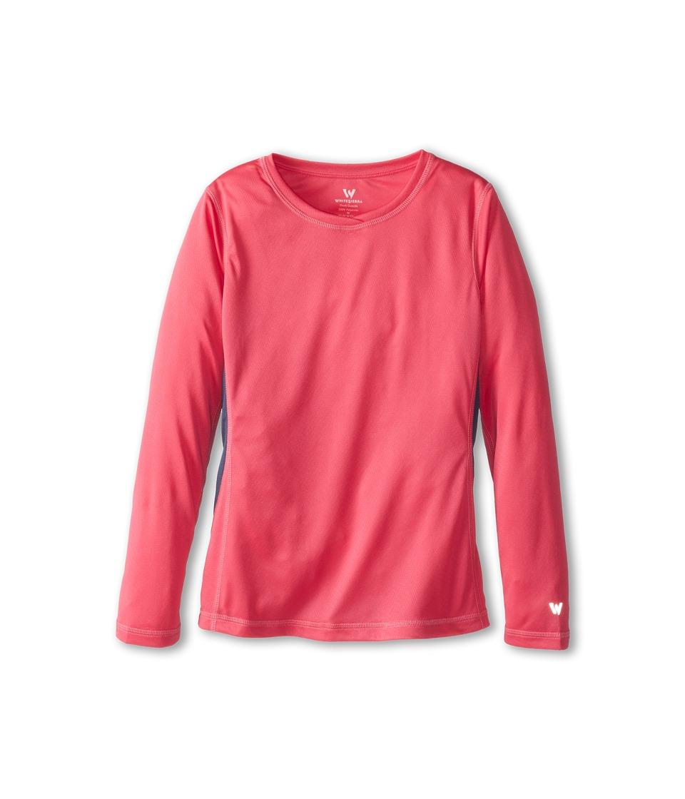 White Sierra - Sun Buster Tee (Little Kids/Big Kids) (Pink Sunset) Women's Long Sleeve Pullover