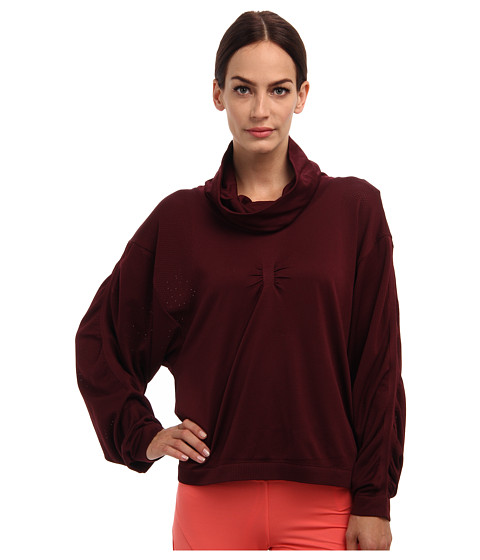 adidas by Stella McCartney - Yoga Slsweatshirt G88728 (Light Maroon) Women's Sweatshirt