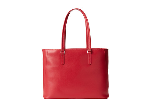 KNOMO London - Cavendish Open Tote Bag With Laptop Sleeve (Scarlet) Tote Handbags