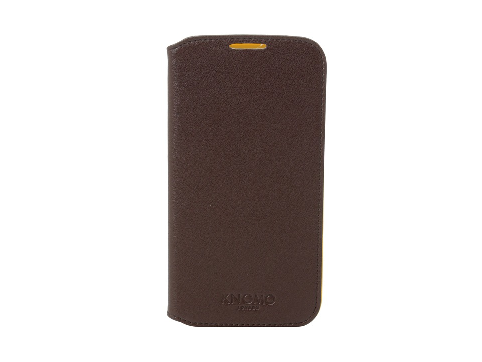 KNOMO London - Samsung S4 Folio (Brown) Cell Phone Case