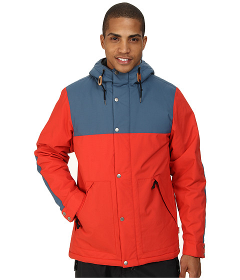 Poler - Scout Parka (Red/Ocean) Men's Coat