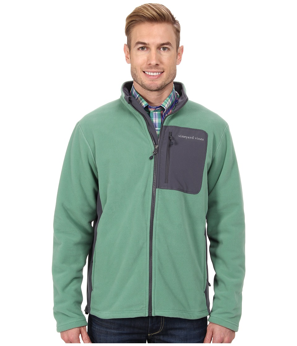 Vineyard Vines - Still River Fleece Full Zip Jacket (Starboard Green) Men's Fleece