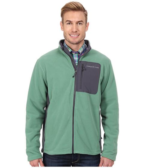 Vineyard Vines - Still River Fleece Full Zip Jacket (Starboard Green) Men's Fleece