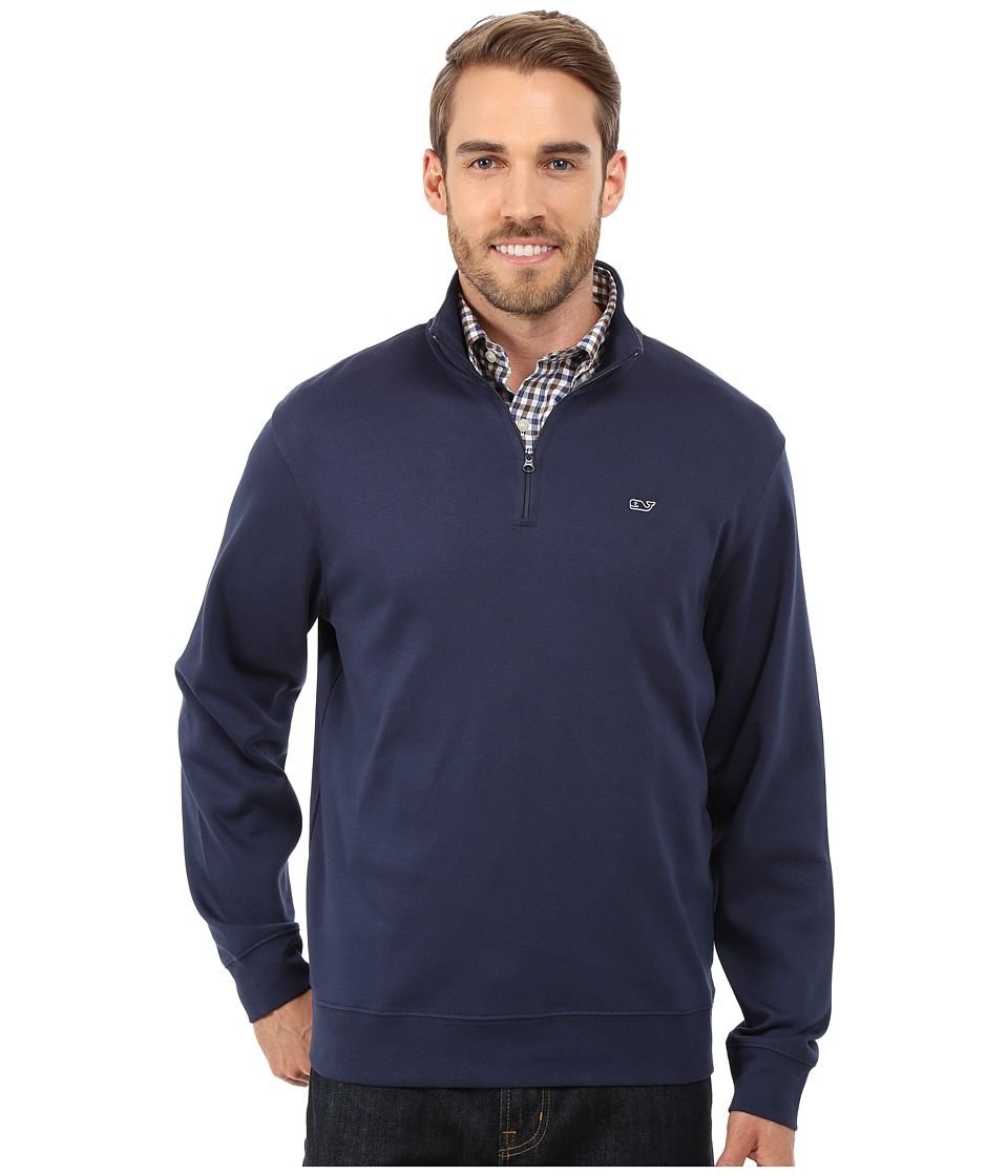 Vineyard Vines - 1/4 Zip Jersey (Blue Blazer) Men's Long Sleeve Pullover