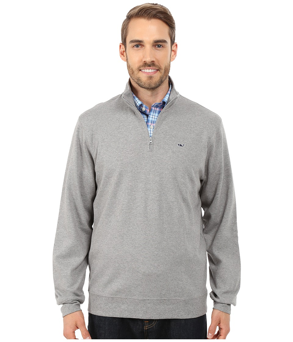Vineyard Vines - 1/4 Zip Jersey (Medium Heather Grey) Men's Long Sleeve Pullover