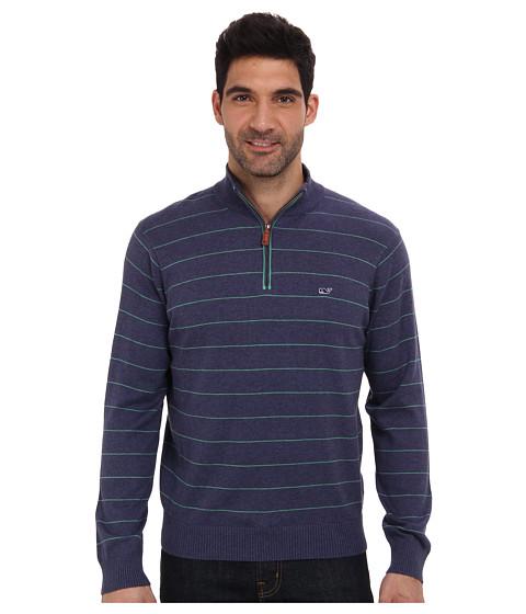 Vineyard Vines - Mill River 1/4 Zip Sweater (Ocean Splash) Men