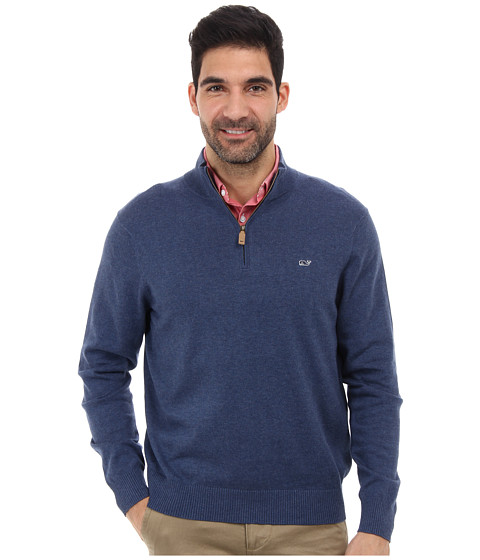 Vineyard Vines - Harbor Point 1/4 Zip Sweater (Ocean Splash) Men's Sweater