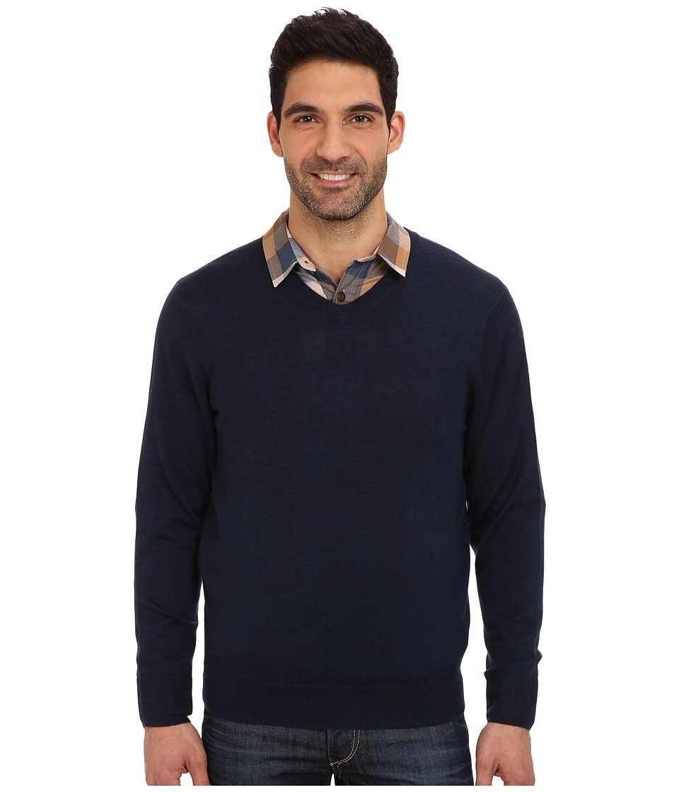 Vineyard Vines - Merino Cashmere V-Neck Sweater (Blue Blazer) Men