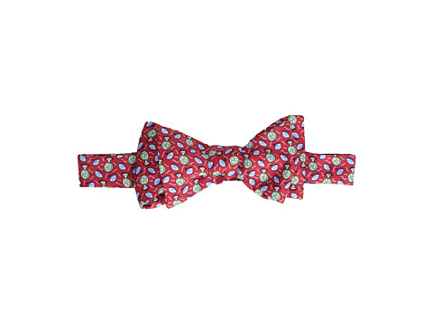 Vineyard Vines - Football Fan Printed Bow Tie (Red) Ties