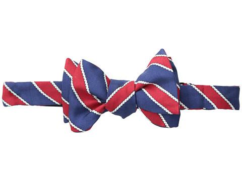 Vineyard Vines - Rope Repp Stripe Printed Bow Tie (Red) Ties