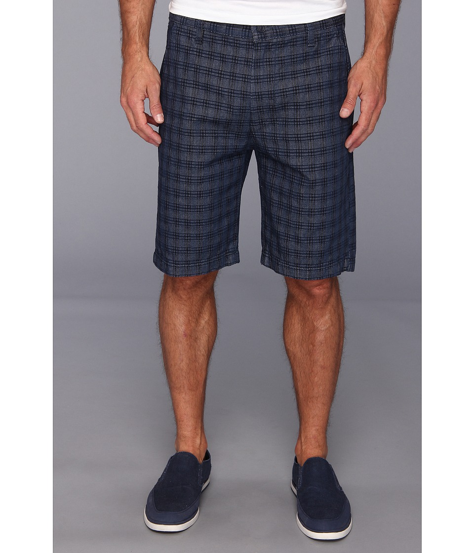 7 For All Mankind - Chino Short in Indigo Woven Plaid (Indigo Plaid) Men's Shorts