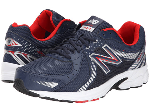New Balance - M450v3 (Navy/Silver) Men's Running Shoes