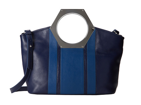 Jonathan Adler - Goldie Hex Handle Tote (Indigo/Dusk) Tote Handbags