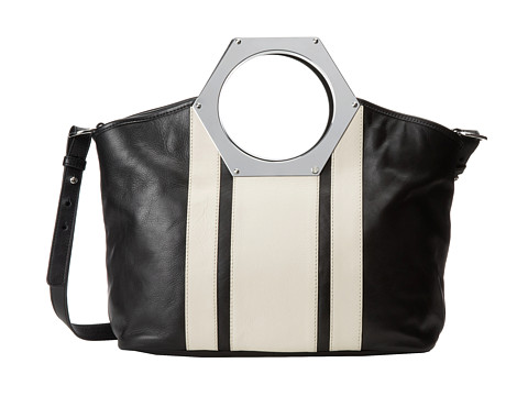 Jonathan Adler - Goldie Hex Handle Tote (Black/Ivory) Tote Handbags