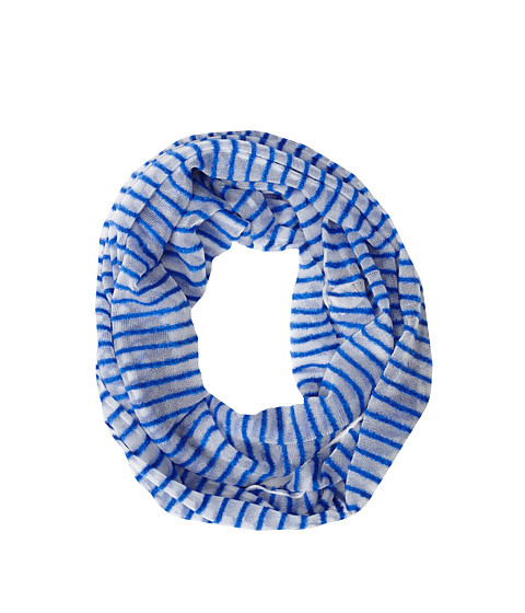 Echo Design - Clear Feather Stripe Loop (Royal Blue) Scarves